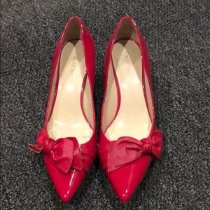Nine West Red Patent Leather Heels